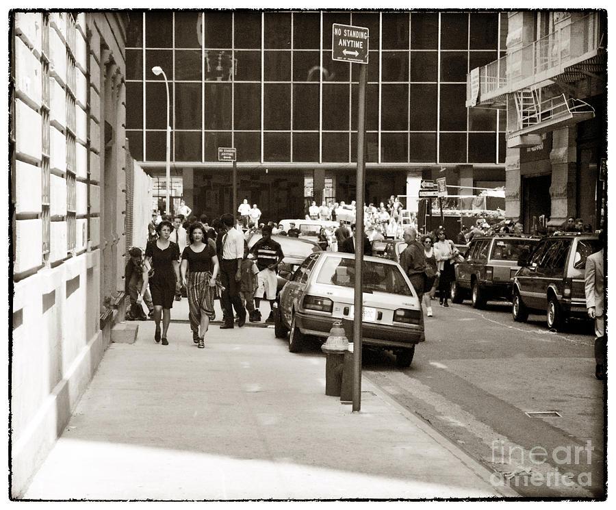 City Streets 1990 Photograph - City Streets 1990s by John Rizzuto
