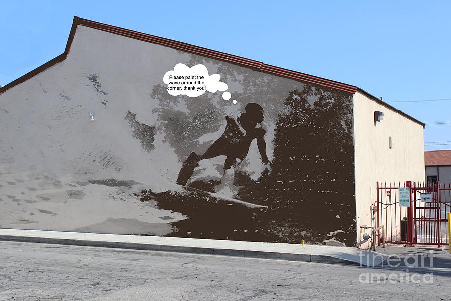 City Surfin Street Art Photograph by RJ Aguilar