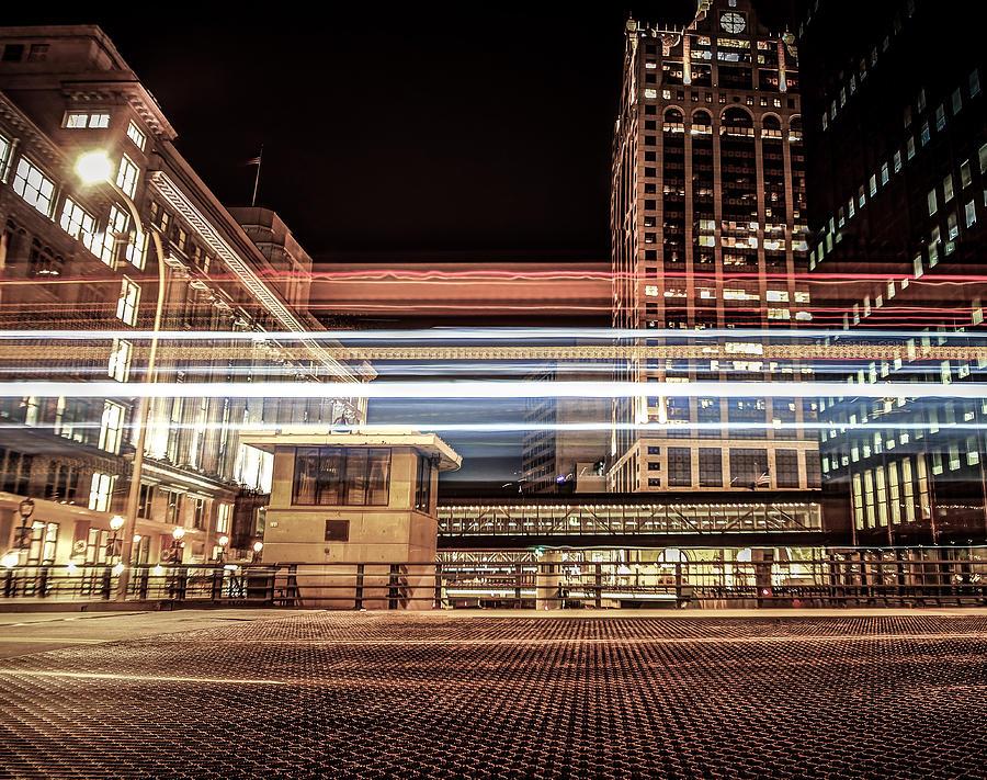 Milwaukee Photograph - City Traffic by Anna-Lee Cappaert