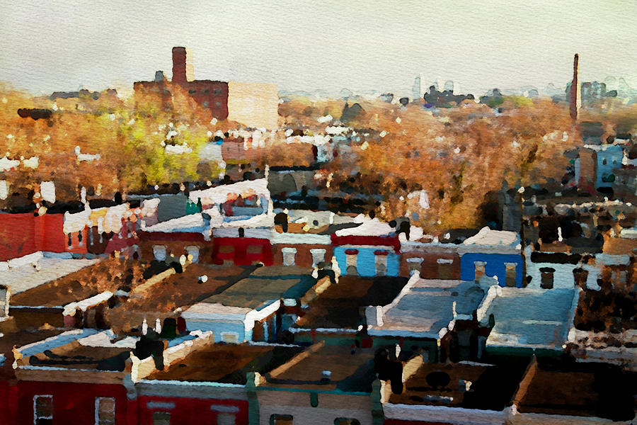 South Philadelphia Photograph - City View Six by Alice Gipson