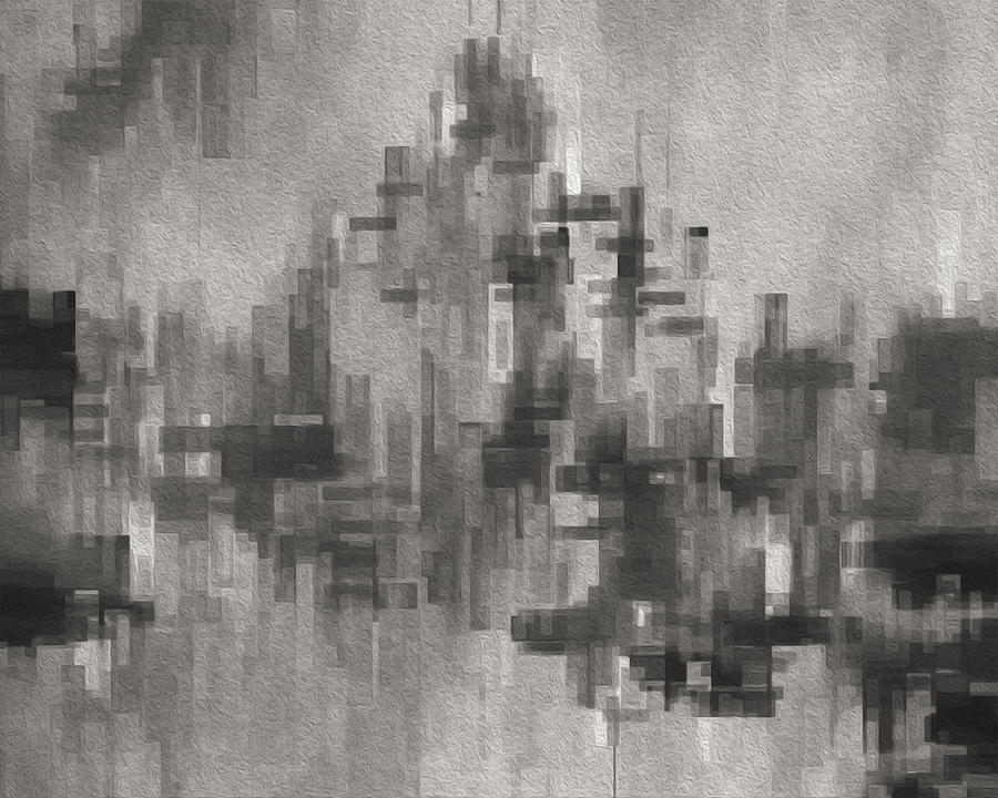 Abstract Painting - Cityscape 3 by Jack Zulli