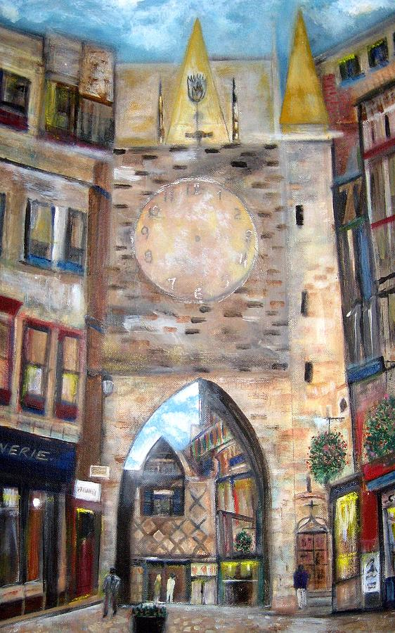 Cityscape Painting - Cityscape European by Rick Todaro
