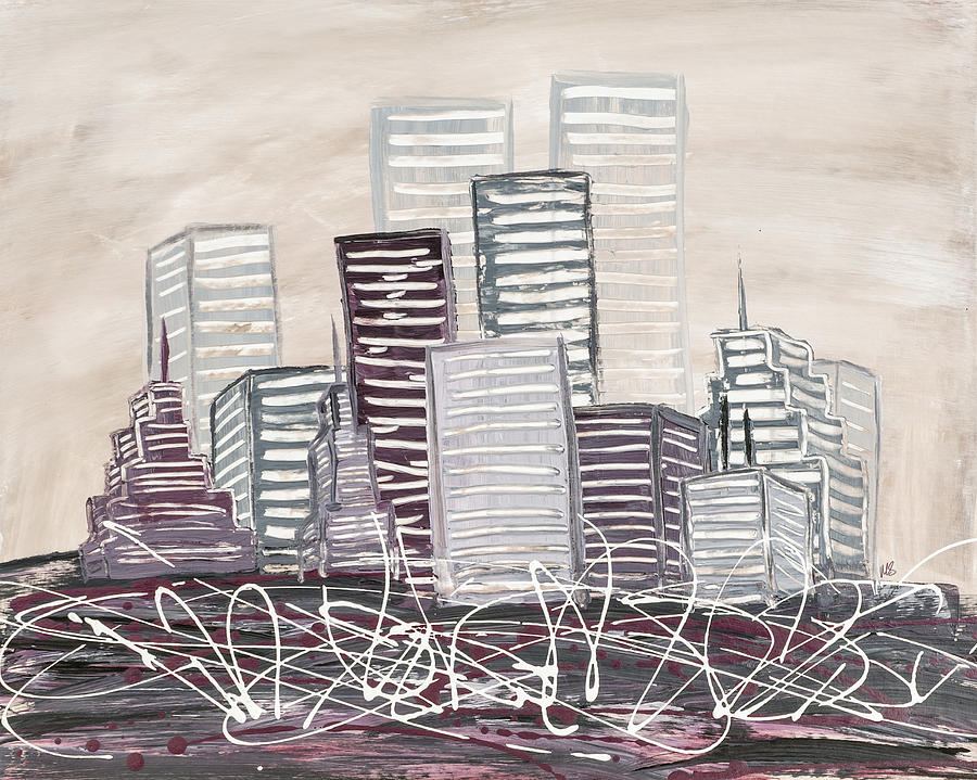 Melissa Smith Painting - Cityscape by Melissa Smith