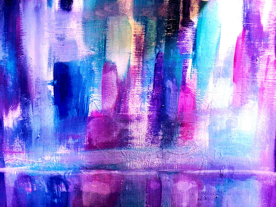 Abstract Painting - Cityscape by Nikki Dalton