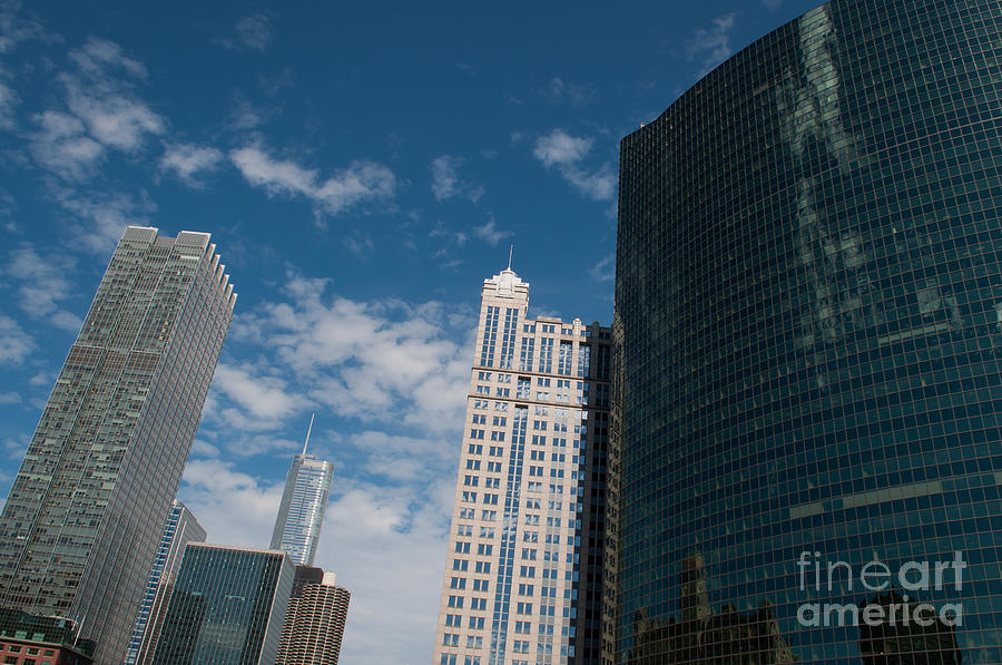 Chicago Downtown Photograph - Cityscape of Chicago City by Dejan Jovanovic