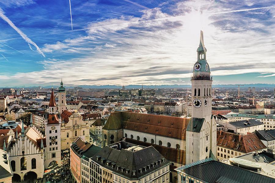 Cityscape Of Munich Photograph by Michael Fellner