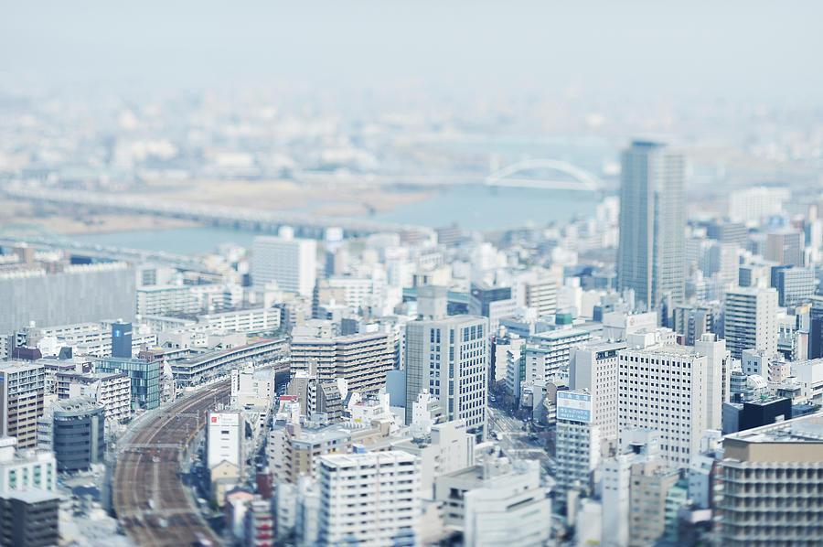 Cityscape Of Osaka, Japan Photograph by Yagi Studio