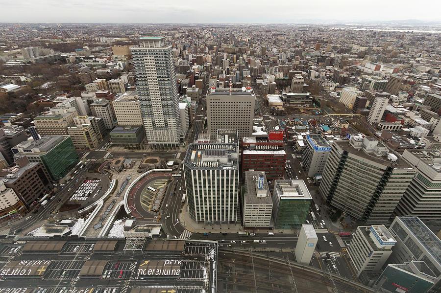 Cityscape Of Sapporo, Hokkaido, Japan Photograph by Tetsuya Aoki