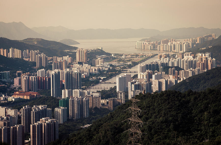 Cityscape Of Shatin And Ma On Shan Photograph by D3sign