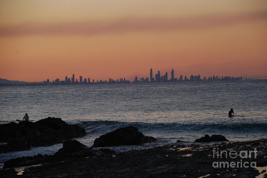 Cityscape watery sunset by Ankya Klay