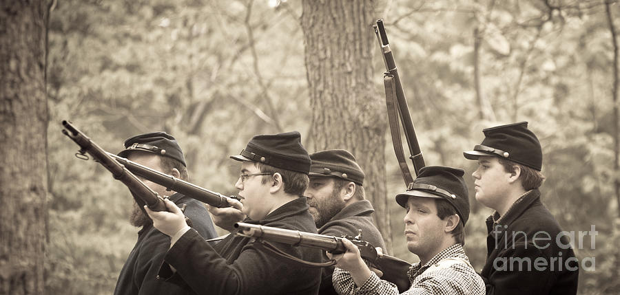 Fire Photograph - Civil War 3 by Roger Bailey