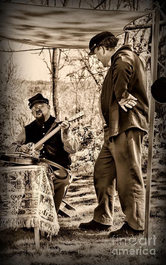 Paul Ward Photograph - Civil War Banjo Player by Paul Ward