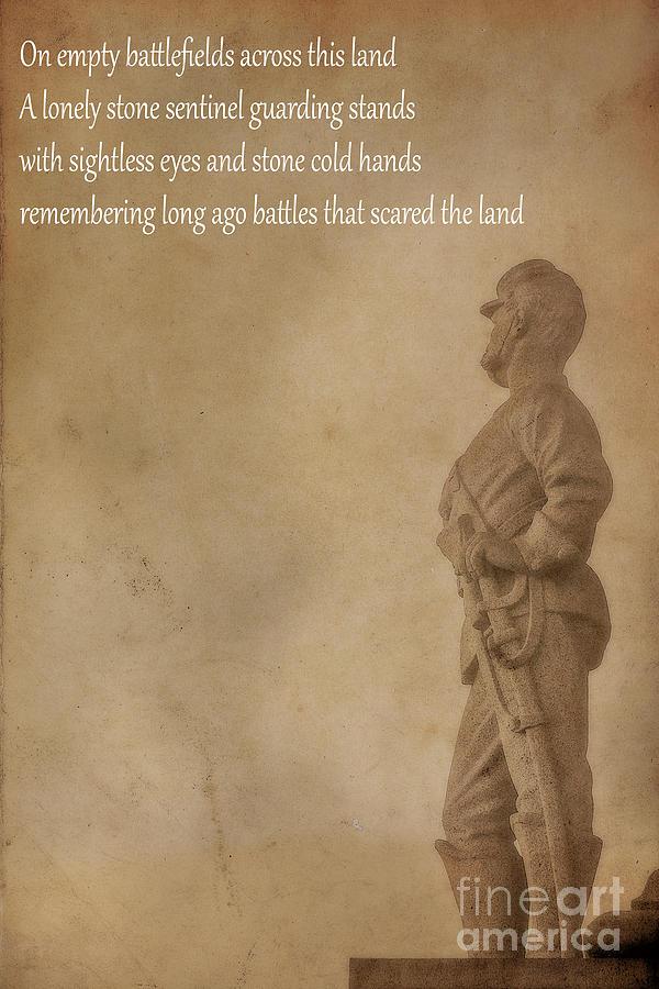 Civil War Battlefield Poem Poster