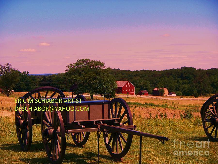 Civil War Photograph - Civil War Caisson At Gettysburg by Eric  Schiabor