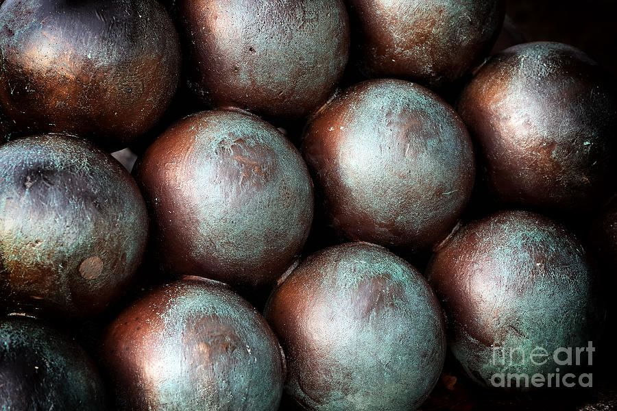 Civil War Cannon Balls Photograph - Civil War Cannon Balls by John Rizzuto