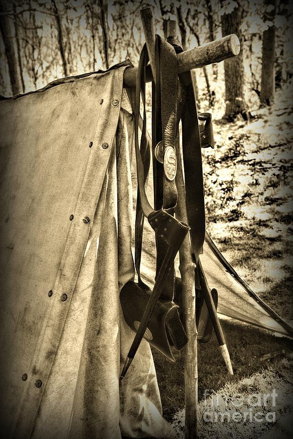 Paul Ward Photograph - Civil War  Duty Belt by Paul Ward