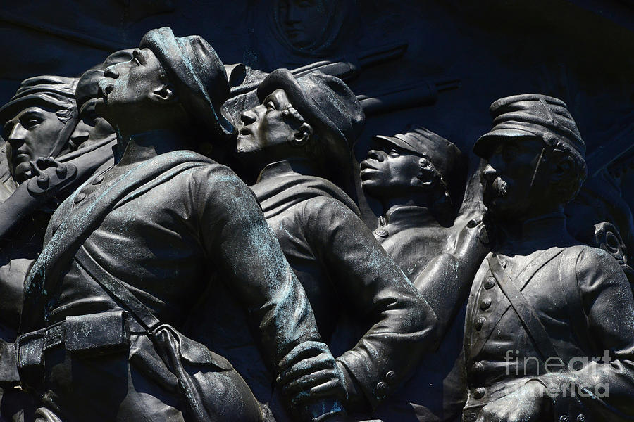 Arlington National Cemetery Photograph - Civil War Figures by Paul W Faust -  Impressions of Light