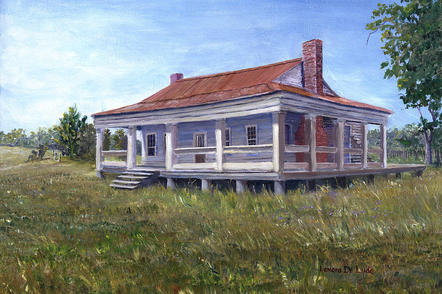 Civil War House Mansfield Louisiana by Lenora  De Lude