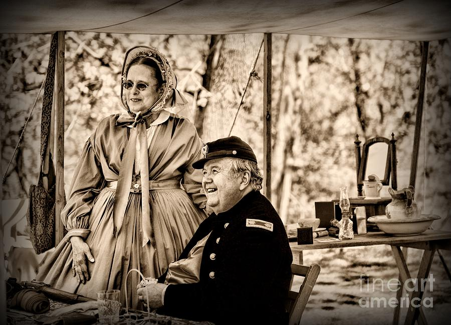 Paul Ward Photograph - Civil War Officer And Wife by Paul Ward