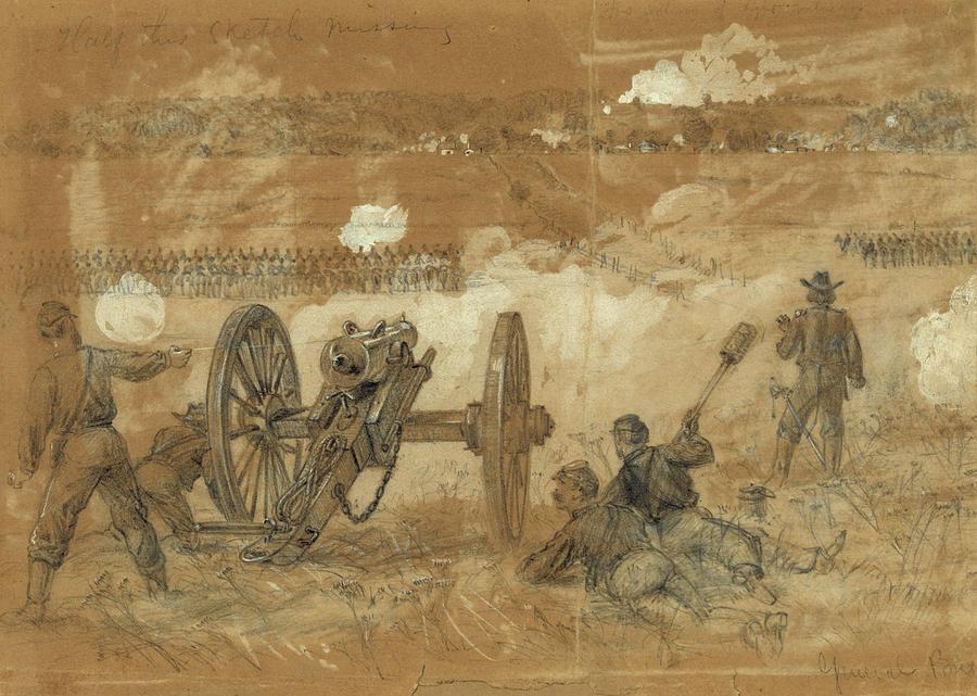 1863 Drawing - Civil War Rapidan River by Granger