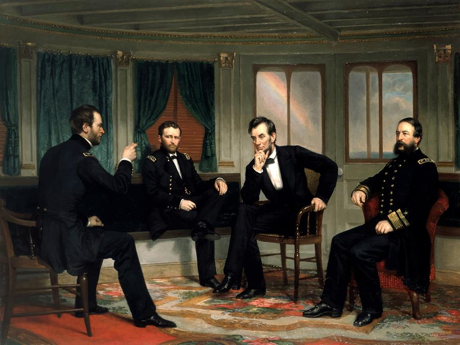 Civil War Painting - Civil War Union Leaders -- The Peacemakers by War Is Hell Store