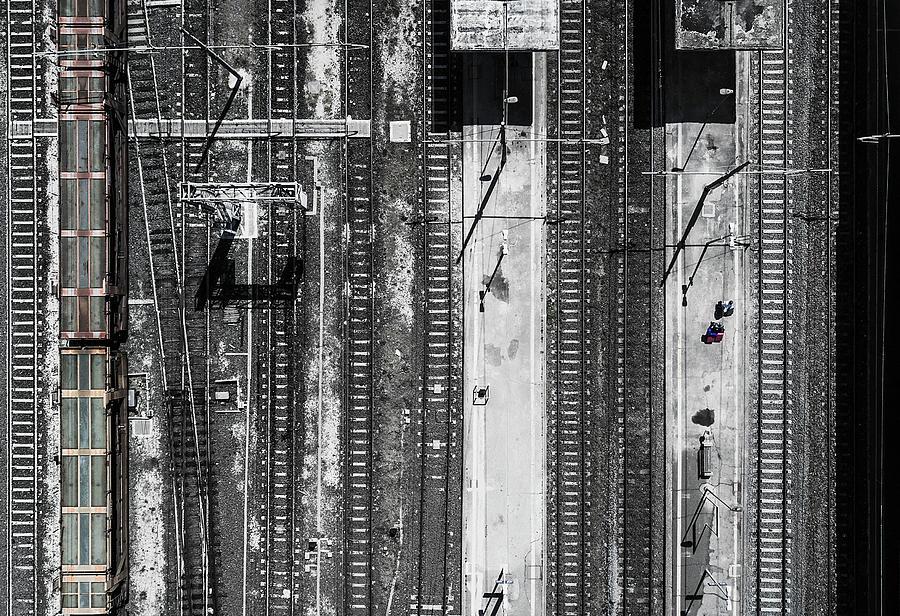 Rail Photograph - Civitavecchia Train Station by Zhou Chengzhou