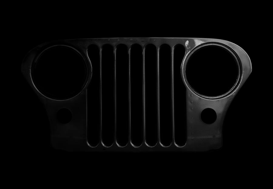 Jeep Photograph - Cj Grille- Fade To Black by Luke Moore