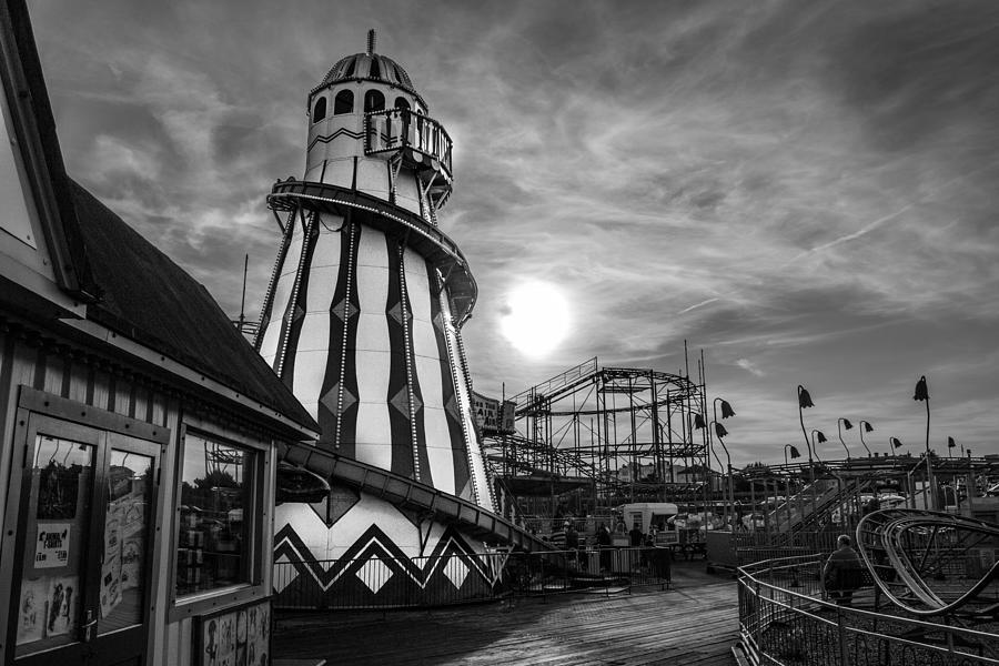 Clacton Photograph - Clacton Pier  by Andrew Lalchan