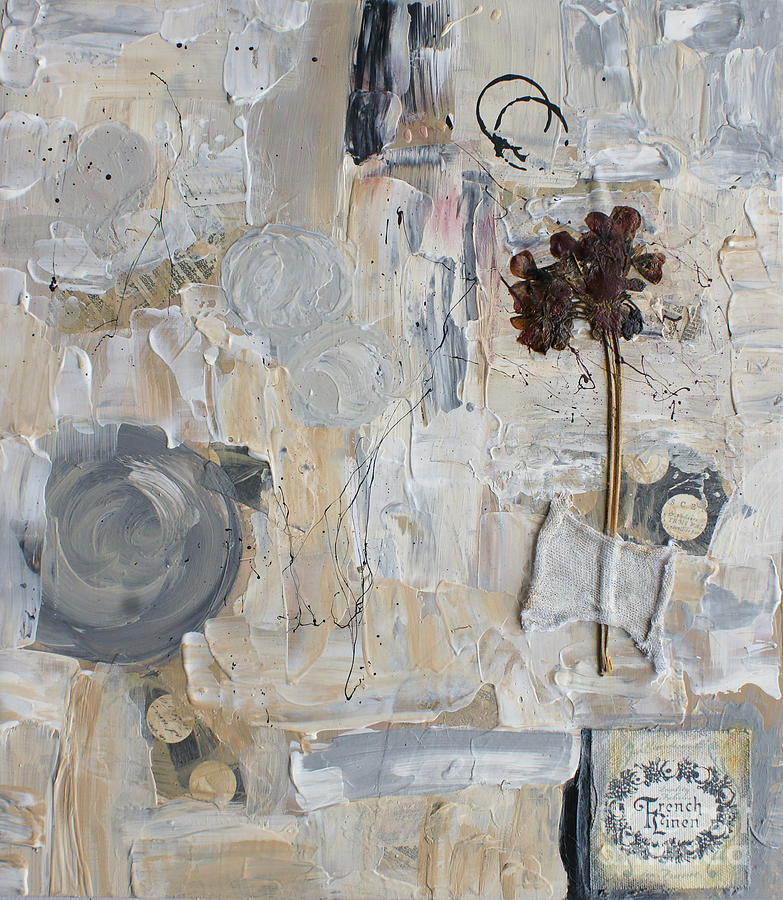 Collage Painting - Clafoutis D Emotions by Aimelle