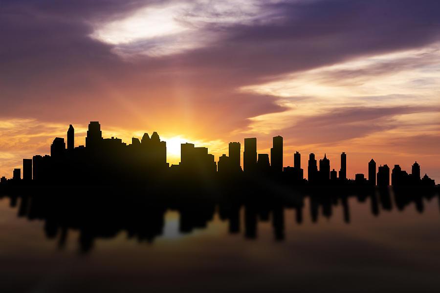 Calgary City Photograph - Calgary Sunset Skyline  by Aged Pixel