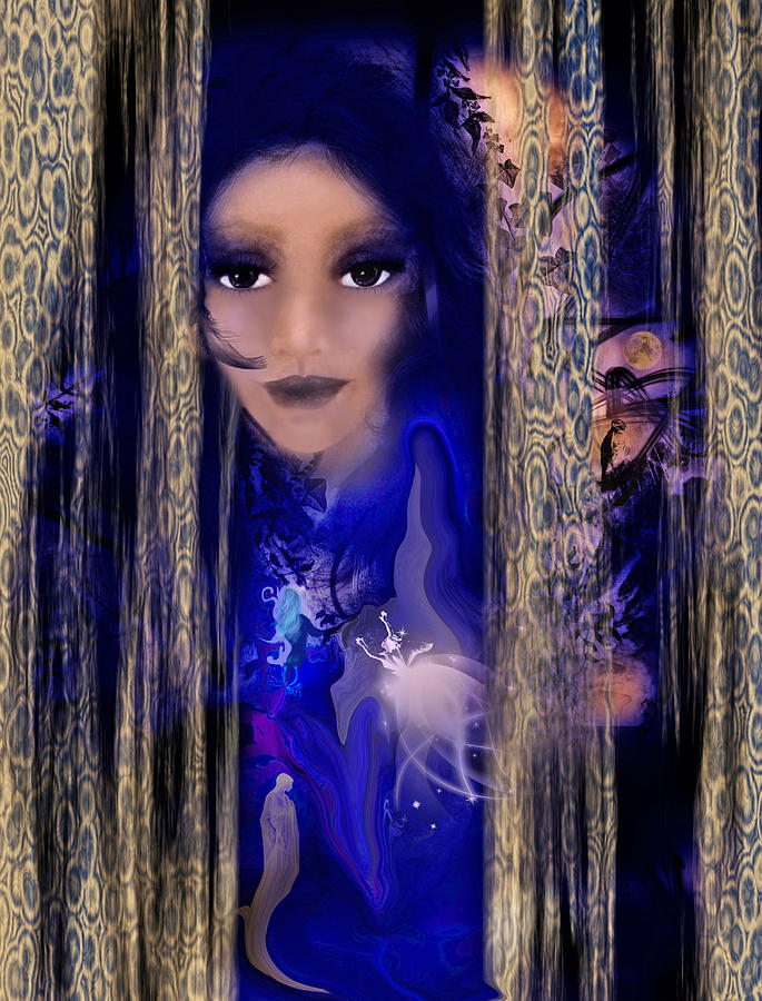 Feminine Intuitive Art Digital Art - Clairvoyant Seven by Patricia Motley