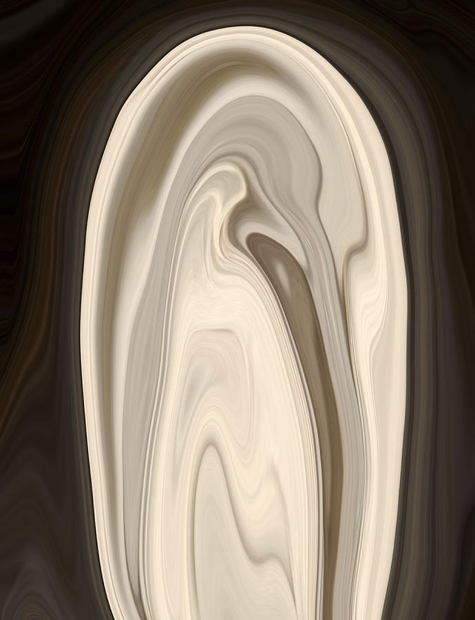 Shell Digital Art - Clam Shell by Chad Miller