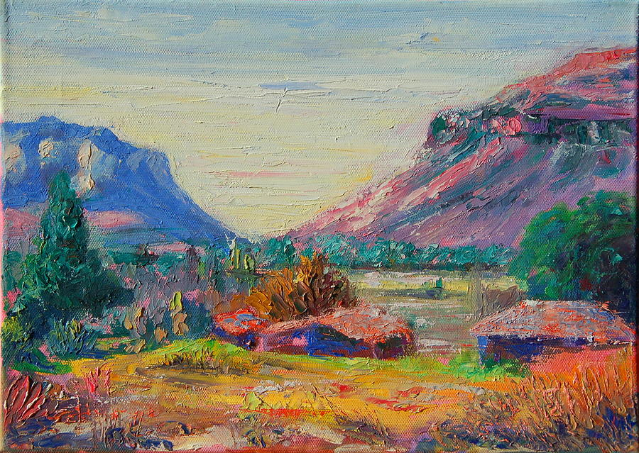 Clarence Mountain Free State South Africa Painting by Thomas Bertram POOLE