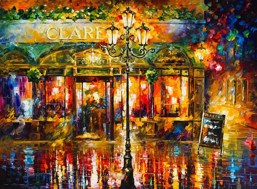 Misty Painting - Clarens Misty Cafe by Leonid Afremov