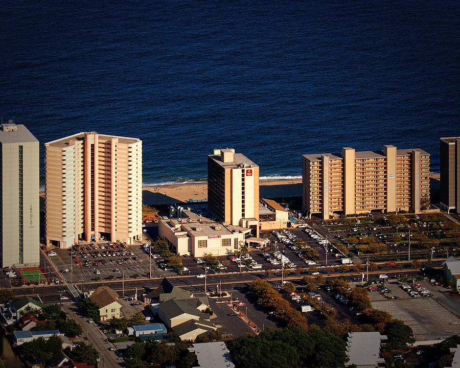 Clarion Hotel Ocean City Md Photograph by Bill Swartwout Fine Art Photography