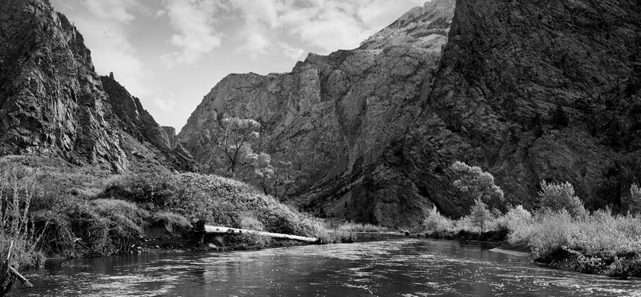 Beautiful Photograph - Clarks Fork River In Canyon Bw by Roger Snyder