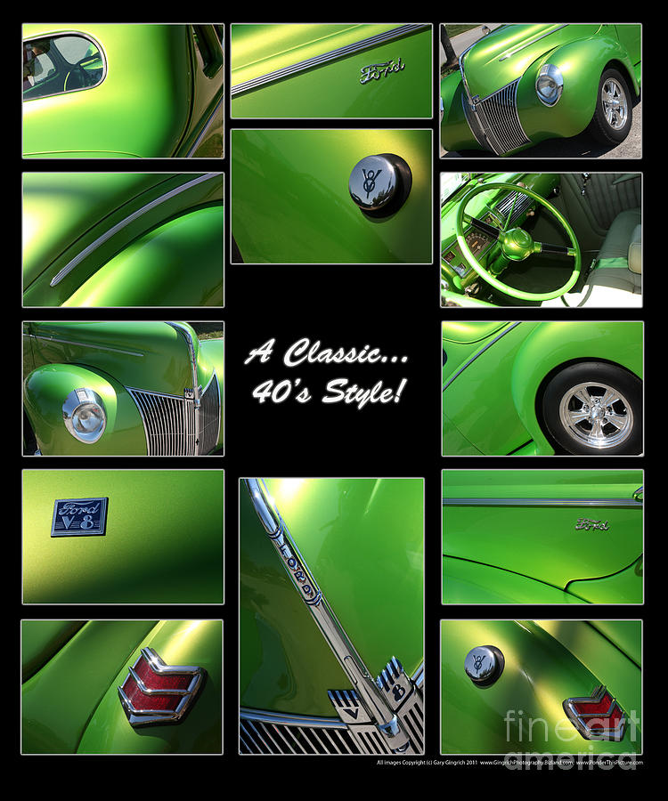 Automobile Photograph - Classic 40s Style - Poster by Gary Gingrich Galleries