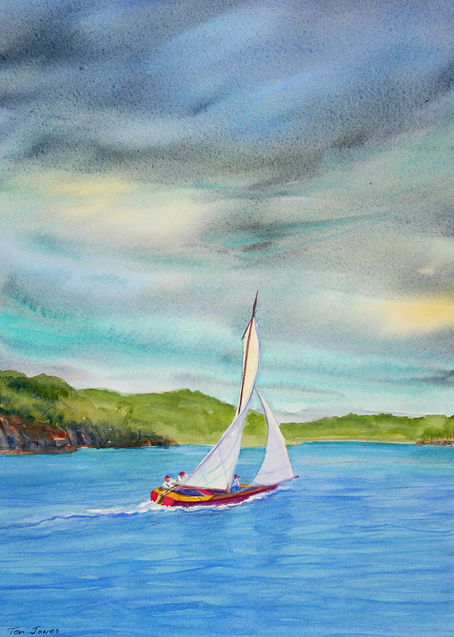 Sailboat Painting - Classic Afternoon by Teri  Jones