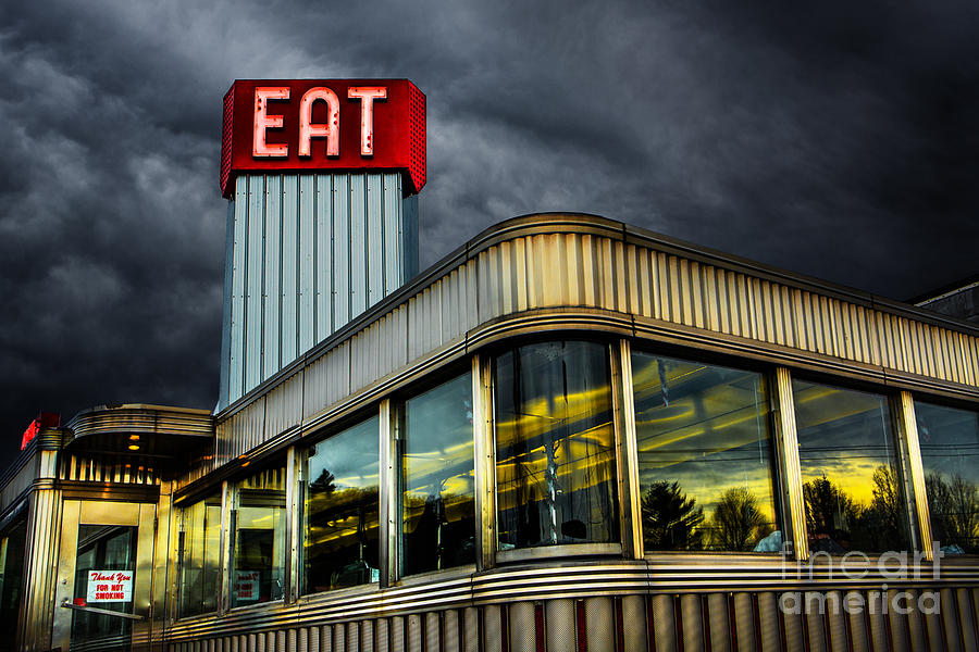 Classic American Diner Photograph
