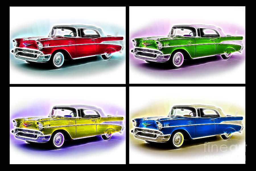 Classic Car Pop Art Photograph by Jo Collins