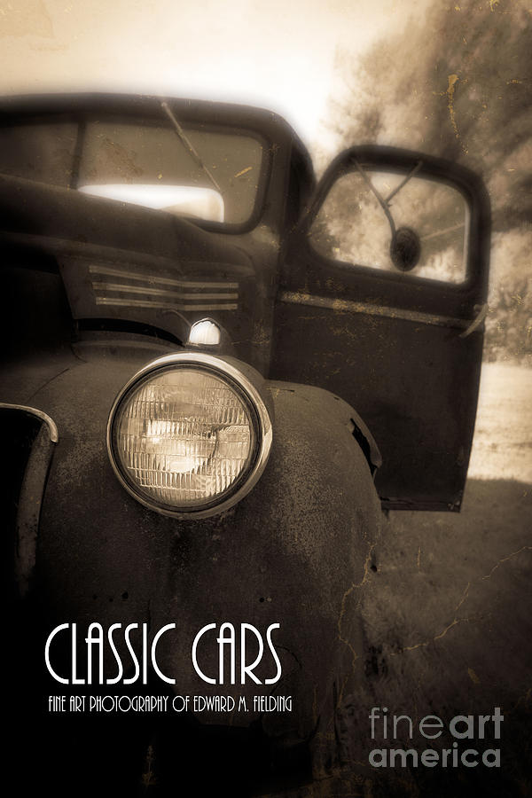 Car Photograph - Classic Cars Back Cover by Edward Fielding