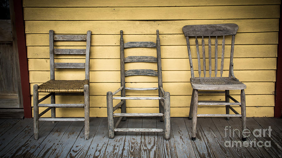 Porch Photograph - Classic Chairs by Perry Webster