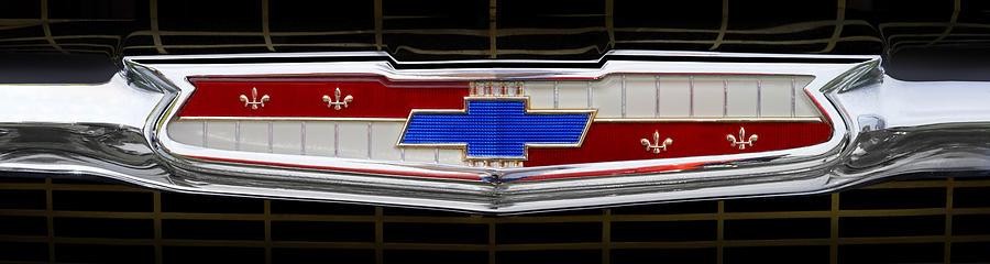 Transportation Photograph - Classic Chevrolet Emblem by Mike McGlothlen