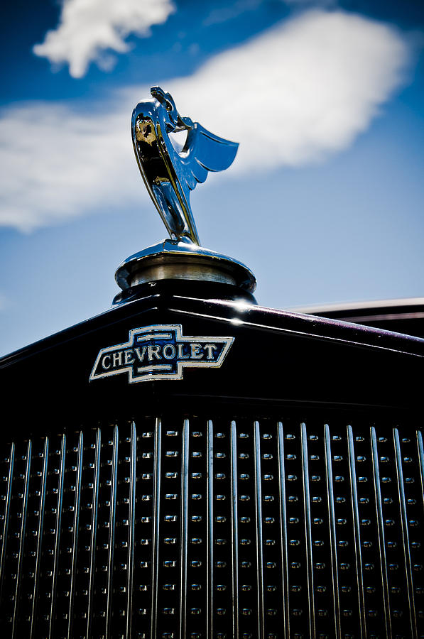 Chevy Emblem Photograph - Classic Chevrolet by Phil motography Clark