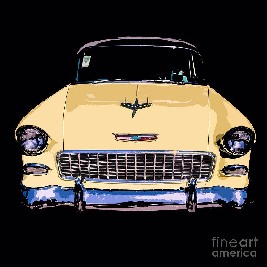 Car Photograph - Classic Chevy Pop Art by Edward Fielding