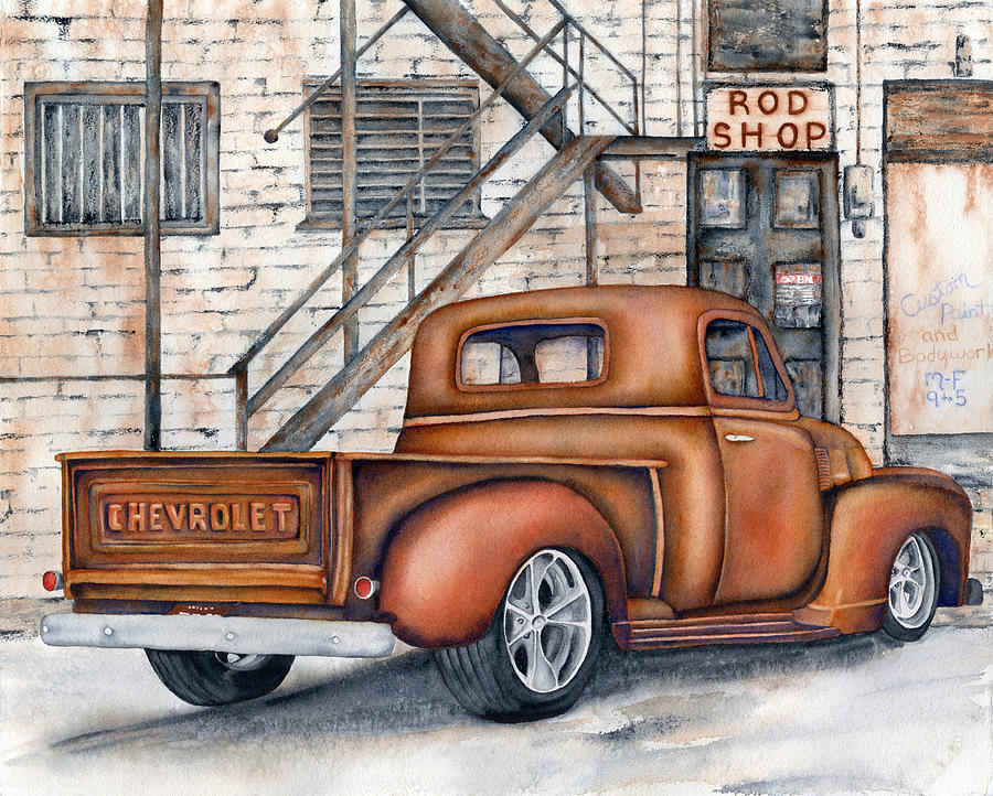 Classic Chevy Pu Painting by Diane Ferron