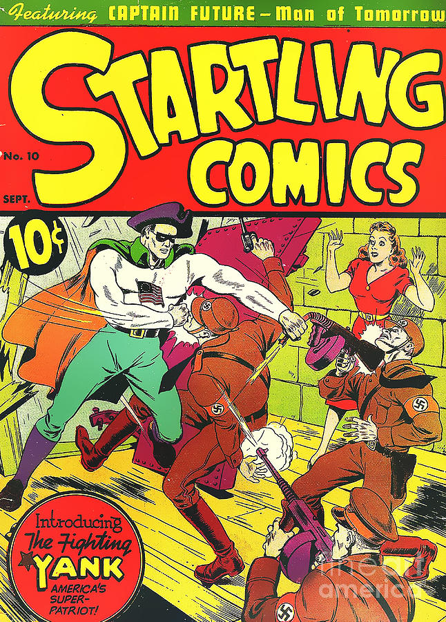 Vintage Comic Book Cover : Classic comic book cover startling comics the fighting