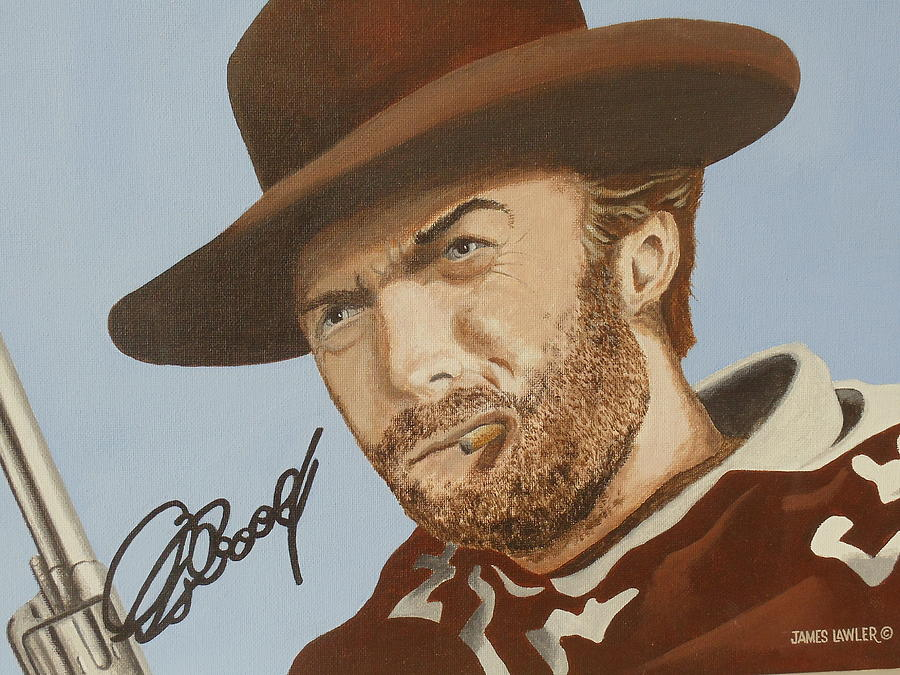 Classic Cool Clint Painting by James Lawler