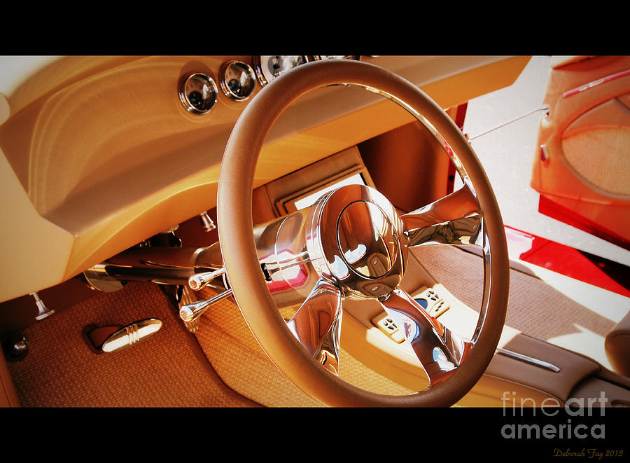classic custom car interior photograph by deborah fay. Black Bedroom Furniture Sets. Home Design Ideas