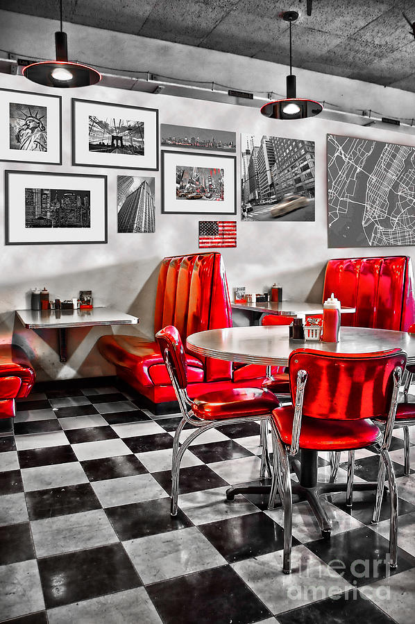 Diner Photograph - Classic Diner by Delphimages Photo Creations